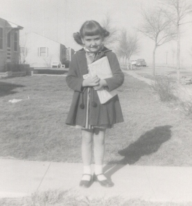 Carla Stewart as a young girl