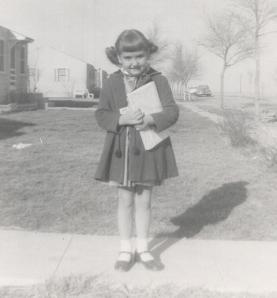 Carla Stewart as a young girl
