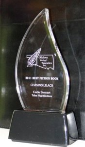 Carla Stewart's award for 2011 Best Fiction Book