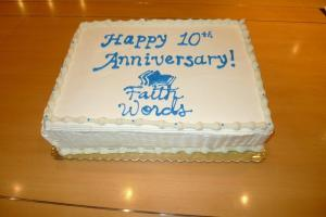FaithWords Anniversary cake